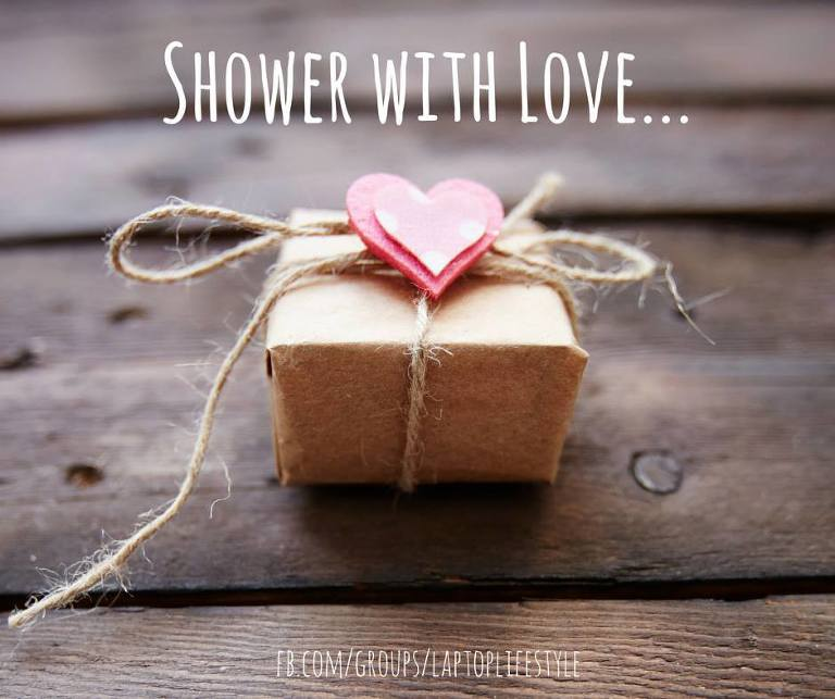 Shower with love gift box for Operation Love Lola by Ristaino Photography of Sarasota FL