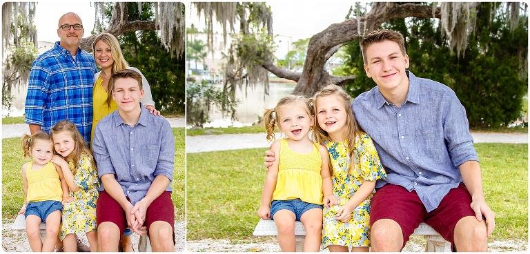 Family photos taken at Phillippi Estate Park Family Session in Sarasota Florida by Michaela Ristaino Photography Sarasota's Premier Family and Headshot Photographer